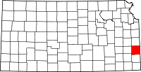 Bourbon County, Kansas Locator Map