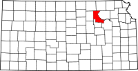 Riley County, Kansas Locator Map