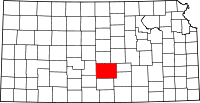 Reno County, Kansas Locator Map