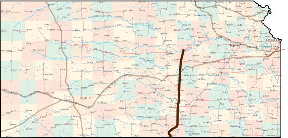Kansas Chisholm Trail Bicycle Route Guide - Chisholm trail map