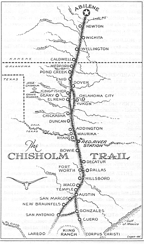 Chisholm Trail Historic Map