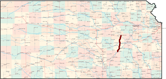 Flint Hills National Scenic Byway Bicycle Route Map