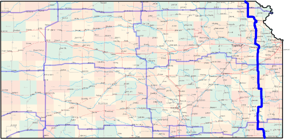 Kansas Cross-State Bicycle Route - North-South Eastern Route