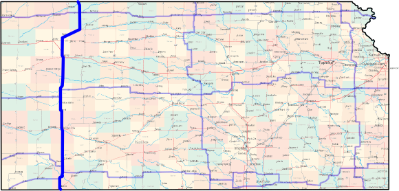 Kansas Cross-State Bicycle Route - North-South Western Route