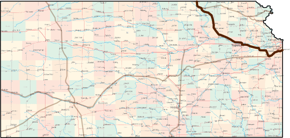 Kansas Oregon Trail Bicycle Route Map
