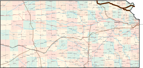 Kansas Pony Express Trail Bicycle Route Map