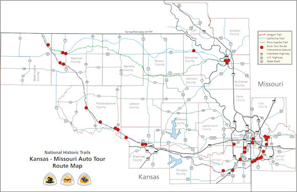 Pony Express Trail Kansas Map