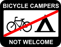 Bicycle Campers Not Welcome