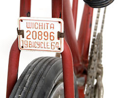 Kansas Bicycle License Plate