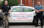 Winfield Bicycle Patrol - Photo courtesy of the Winfield Daily Courier
