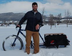Andrew Henrichs and his Xtracycle