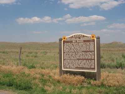 Kansas Historical Marker: Big Basin