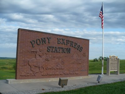 Hollenberg Pony Express Station Historical Marker