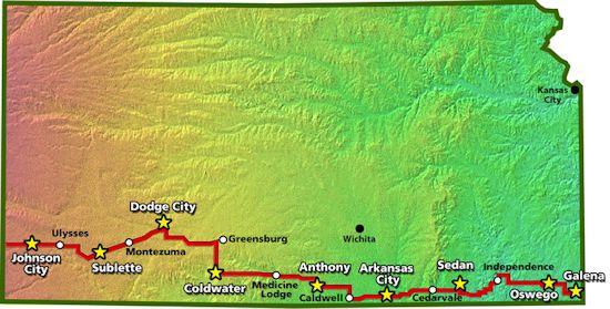 Bike Across Missouri Route Across Kansas web site