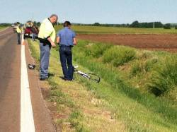 Bicyclist Killed In Salina 2013-05-31. Photo courtesy KCWH.