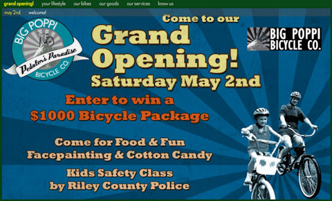 Big Poppi Bicycle Co. Grand Opening