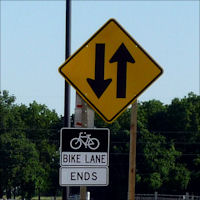 Bike Lane Ends