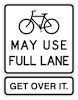 Bikes May Use Full Lane, Get Over It