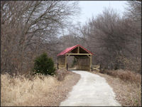 Covered Bridge on the Blue River Rail Trail