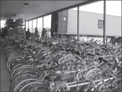Recycling Bicycles in Ellsworth