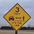 New 3-Foot Passing Signs in Harvey County, Kansas