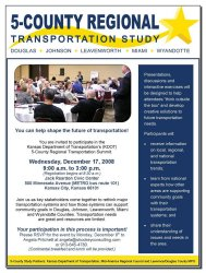 KC Area Regional Transportation Summit