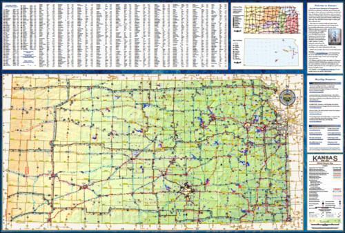 2012-2013 Kansas Bicycle Map, Page 1