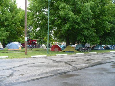 Tents at Sedalia's Liberty Park