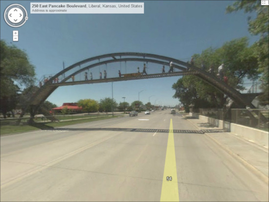 Pedestrian Overpass across US-54 in Liberal, KS
