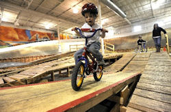 Little Cyclists Learn Mountain Biking