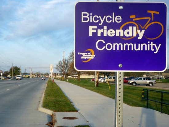 Manhattan: Bicycle Friendly Community Sign
