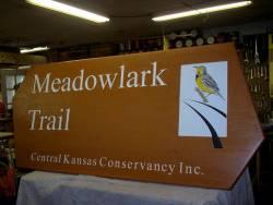 Meadowlark Trail Sign