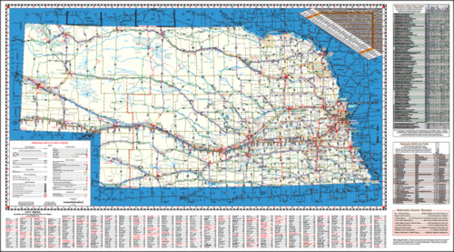 2012 Nebraska Bicycle Map, Page 1