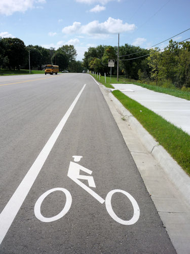 Olathe, KS Bike Lane Symbol