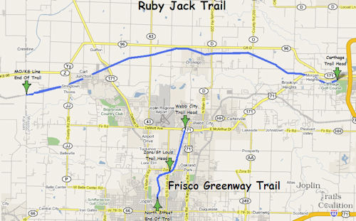 Ruby Jack Trail Map