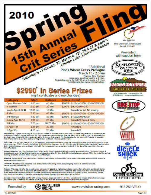 Spring Fling Criterium Series 2010