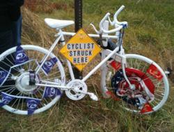 Tim Roberts Ghost Bike