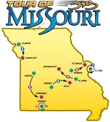 Tour of Missouri 2008 Route