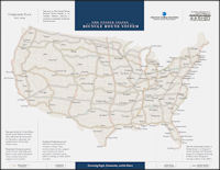 The U.S. Bicycle Route System Map