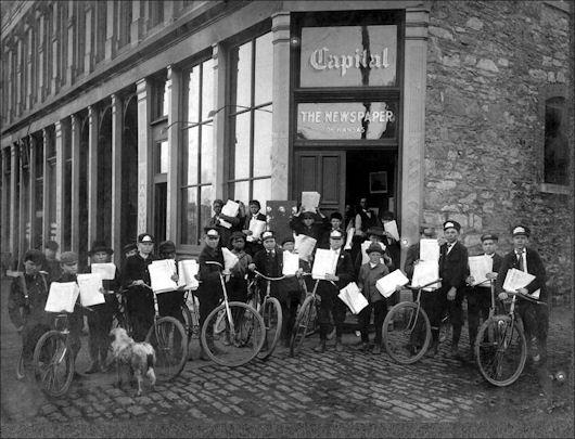 Vintage Kansas Cyclists: Newspaper Delivery Boys