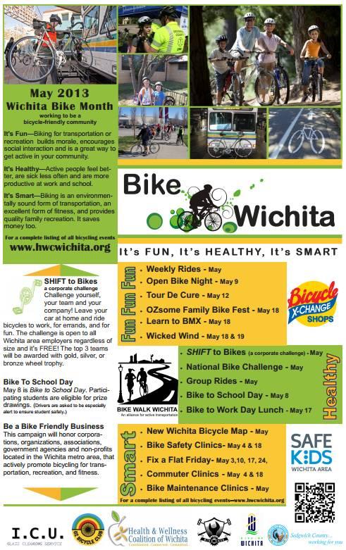 Wichita Bike Month Poster 2013