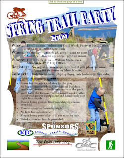 Wilson State Park Spring Trail Party 2009