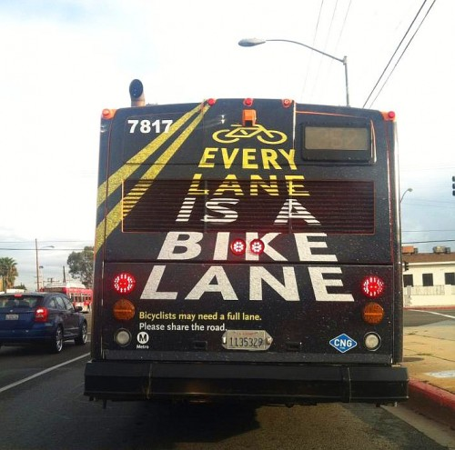 Every lane is a bike lane (bus)