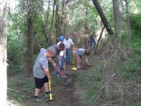 Clearing the South Mound Trail