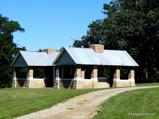 Atchison County Lake - Stone Shelter House - This is one of the impressive and historic stone shelter houses at Atchison County Lake.