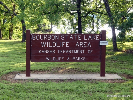 Bourbon State Fishing Lake - Entrance Sign - This is the entrance sign at Bourbon State Fishing Lake (or, as it's labeled here,