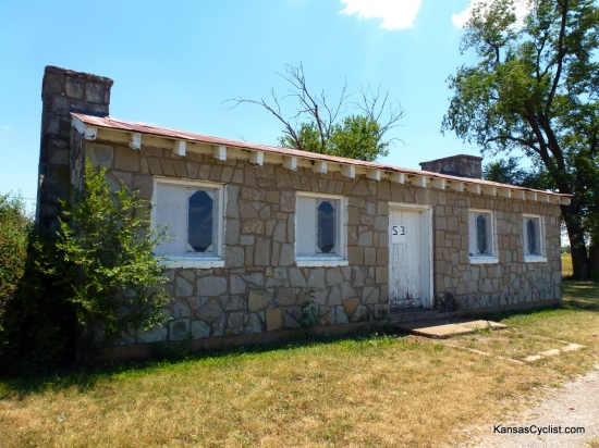 Elm Creek Lake - Shelter House - This is a photo of one of the historic shelter houses at Elm Creek Lake, built by the WPA (Works Progress Administration) from native stone in the 1930s. Camping is not permitted near the shelter houses, which are available for rent.