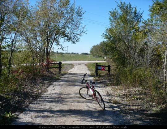 Flint Hills Nature Trail - Osawatomie - The end of the line at Virginia Road.