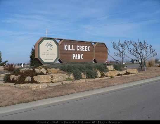 Kill Creek Park 2007 - Entrance sign at Kill Creek Park.