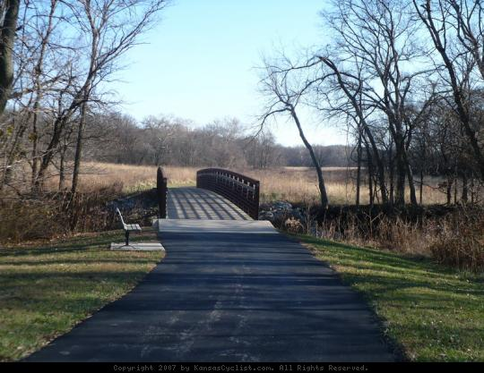 Kill Creek Park 2007 - Paved pathway and bridge at Kill Creek Park.